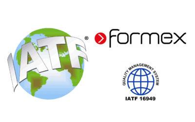 Formex awarded IATF 16949 certificate