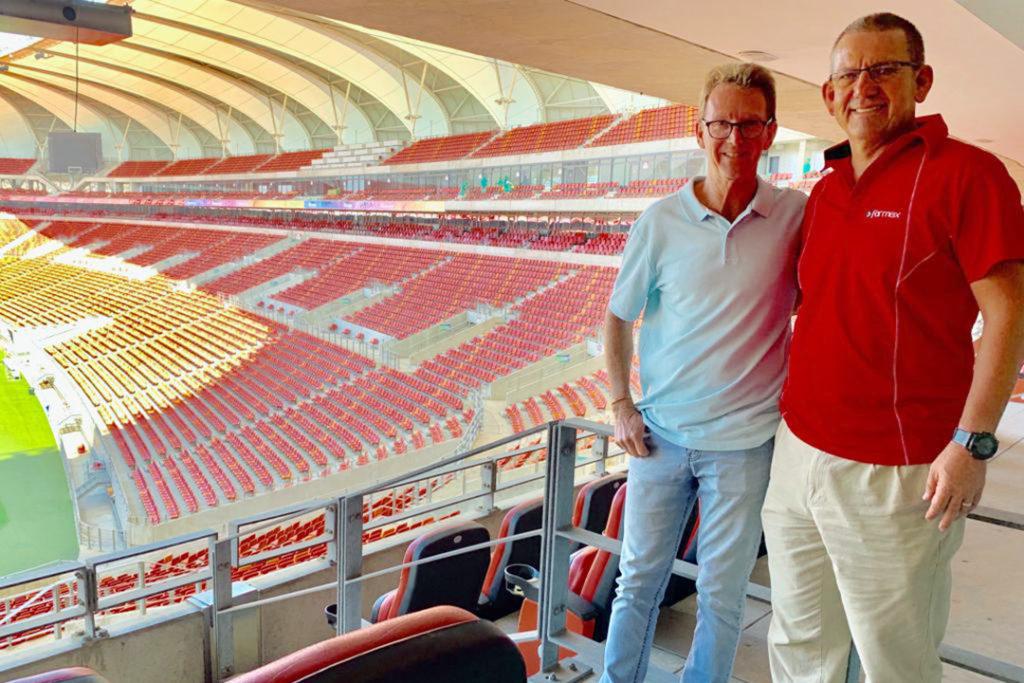 Algoa FM radio presenter Neil Bisseker and Formex CEO Hennie Venter