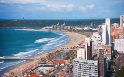 Durban Car Terminal and Durban beachfront