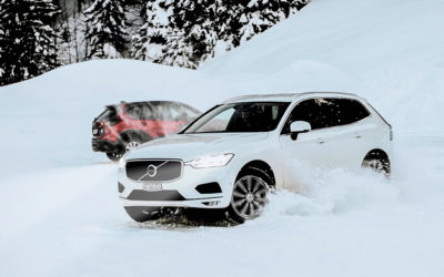 Volvo SUV in the snow